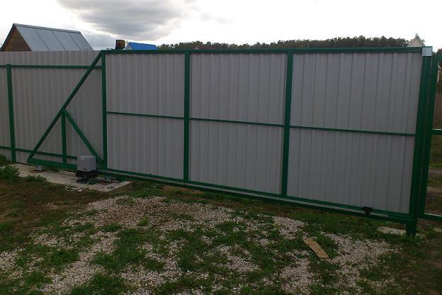 Откатные ворота из подольска как самому сделать откатные ворота на 4 роликах