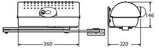 Габаритные размеры привода Igea BT: