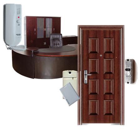 железная дверь в офис с домофоном
