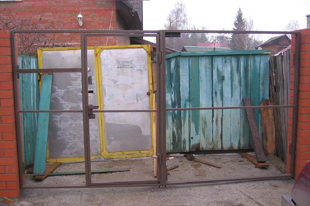 Как сделать ворота в гараж из профильной трубы 188